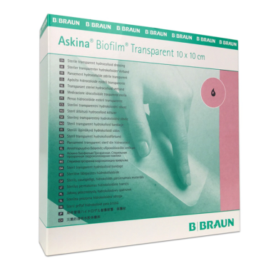 Bbraun Askina Biofilm Transparent 10 x 10cm