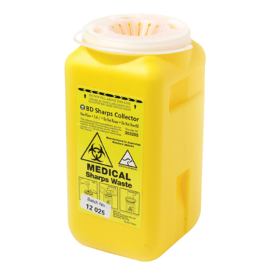 BD Sharps Collector, 1.4L Yellow (300491)