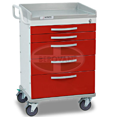 MS Emergency Cart Detecto RC366-L W/ Drawer Divider