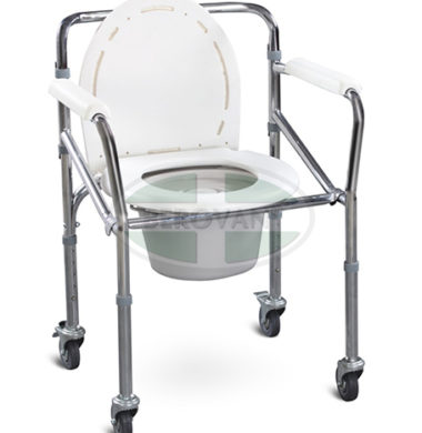 MS Commode Chair Steel With Wheels FS696