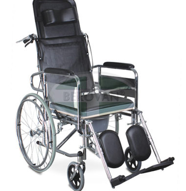 MS Commode Wheelchair Reclining FS609GC