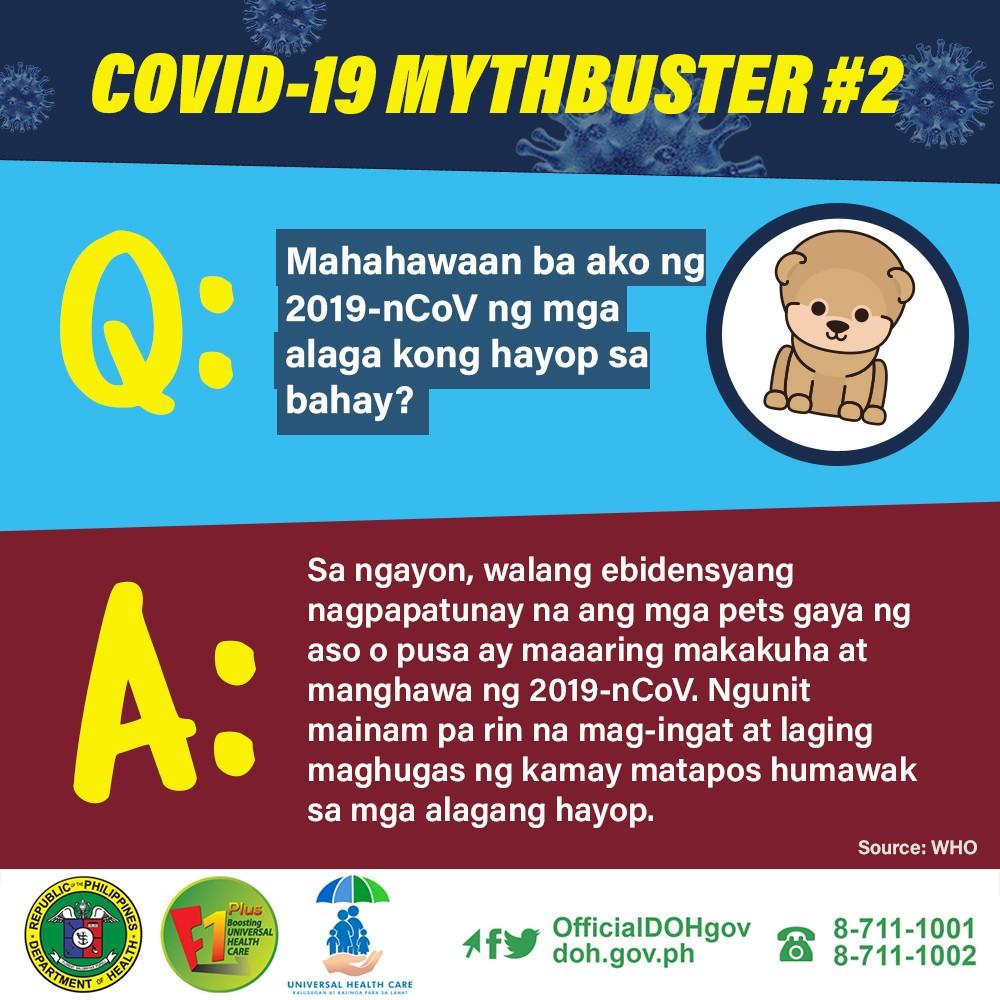 Alamin kung alin sa mga kumakalat na impormasyon ukol sa #COVID19 ang totoo o …