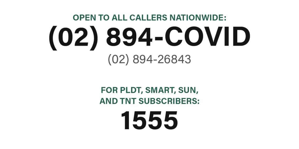 DOH launched the DOH COVID-19 emergency hotlines 02-894-COVID (02-894-26843) and…