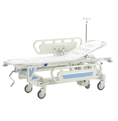 MS Stretcher E-3 with IV Pole & 8cm Lthrttec Cover with Strap